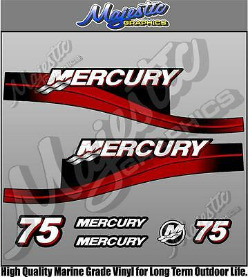 MERCURY 75hp - TwoStroke - OUTBOARD DECALS