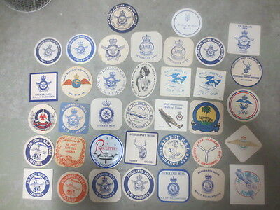 37 different  R.A.A.F. BASES ETC. Issue  collectable COASTERS