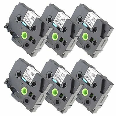 Fimax 6 pack Compatible Brother TZe-241 TZe241 P-touch Label Tape 18mm 3/4