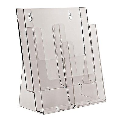 Taymar 2C230 Two Tier Display Stand for A4//DL Leaflets and Brochures Clear