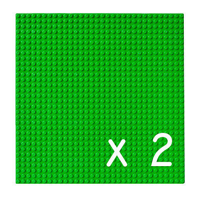New 2 X Green Base Plates 32X32 Stud Building Board Lego Classic City Compatible