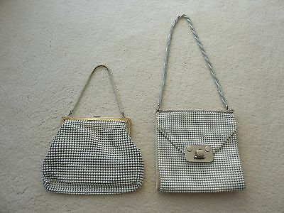 2 x Authentic Vintage White Glomesh Shoulder Bag Purse Made In Australia