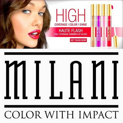 Milani Haute Flash Full Coverage Shimmer Lipgloss  Brillant A Lèvres
