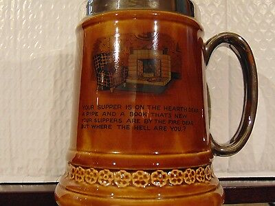 """Vintage Lord Nelson Pottery Beer Tankard 6"""" x 5"""" base"""