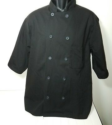 Chef Shirts Size Large Black Lot of 2 Catering Pinnacle Cook Server