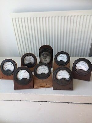 8x Griffin and George Ampere Meters And Volt Meters  Vintage 1970s?