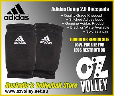Adidas KP 2.0 Competition Volleyball Kneepads - Black or White - OzVolley