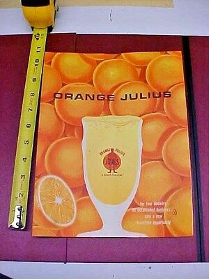 Vintage  Orange Julius Franchise Brouchure 1964