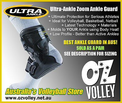 Ultra-Ankle Zoom Ankle Guard/Brace - Latest Technology - Volleyball / Netball