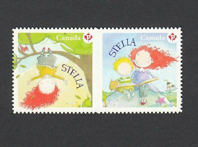 "ca. ""STELLA"" Children's literature DIE CUT pair from Bklt Canada 2013 #2654i MNH"