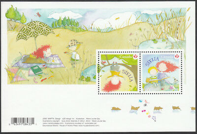 ca. STELLA, CHILDREN'S LITERATURE Souvenir Sheet of 2 Canada 2013 #2652 MNH