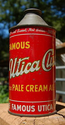 Nice Utica Club Cream Ale Cone Top Beer Can!  Yankee Can Blow Out!