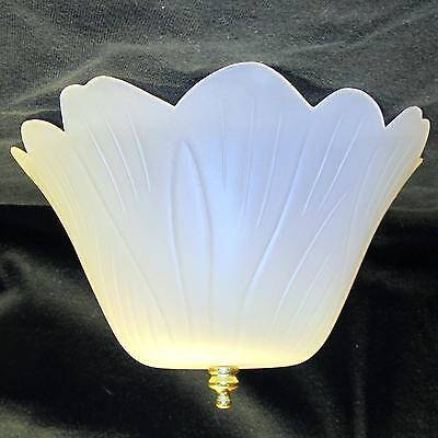 Easy Clip On Satin Tulip Shade for old antique or bare hanging ceiling fixture