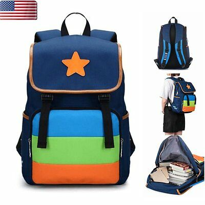 Kids Boys Girls Waterproof Backpack Children Shoulder School Bag Travel Rucksack