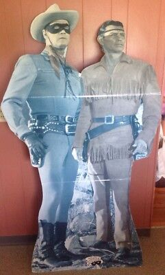 The Lone Ranger and Tonto Cardboard Cutout Standup Store Display Clayton Moore