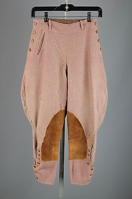 Vtg 30s 40s Women's Wool Plaid Jodhpurs Pants 1940s Breeches #1426 Riding