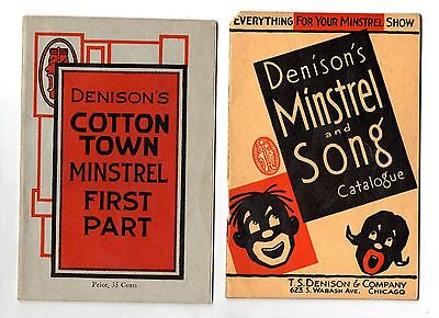 """1934 MINSTREL - Complete books (2) for a """"COTTON TOWN"""" performance"""