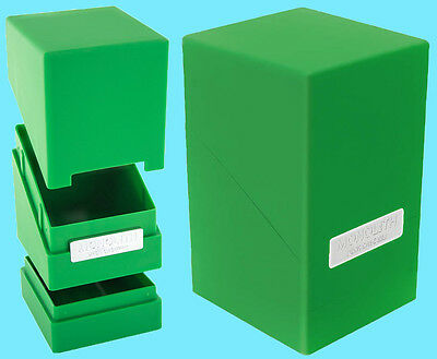ULTIMATE GUARD MONOLITH GREEN DECK CASE 100+ New Card Dice Tower Storage Box MTG