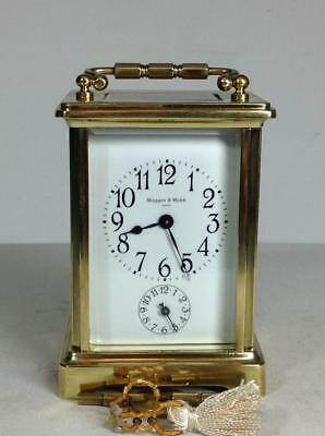 Perfect French Mappin & Webb Alarm 8 days Carriage clock