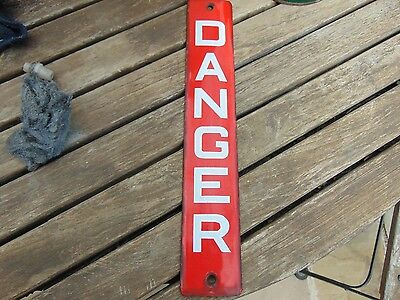 Vintage Telegraph Pole Danger Enamel Sign