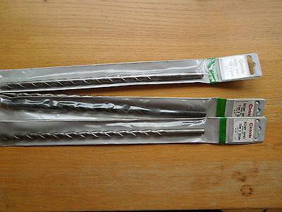 x3 11mm by 300mm Concrete Masonary Drill Bits Cintride carbide tipped + 1 x10mm