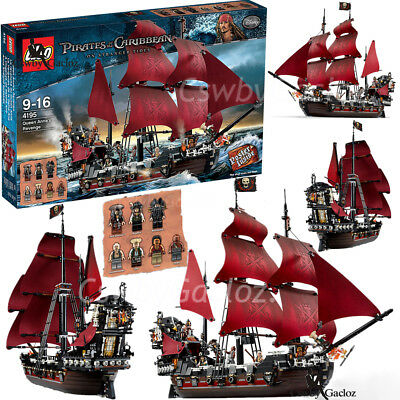 16009 Queen Anne's Revenge Pirates of the Caribbean Puzzle Building Blocks Toys