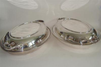 ANTIQUE SILVER PLATED SERVING DISH x 2 MAPPIN & WEBB