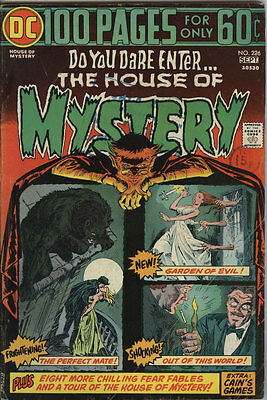 House of Mystery Issue 226 From 1974 DC 100 pg Giant Scarce