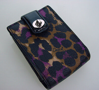 New COACH Playing Cards w/Matching Case in Leopard Print