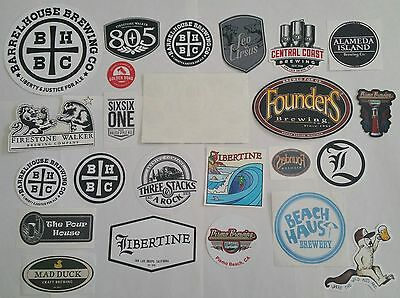 Lot Of 35 Diff. Micro Brewing Craft Beer Ale Stickers California Fla Mich Etc.