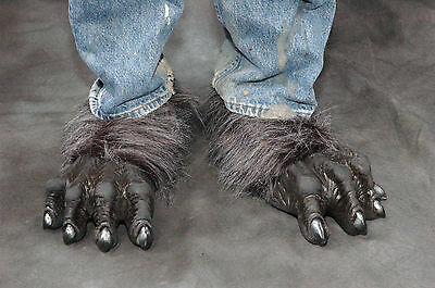 NEW Gray Werewolf Killer Wolf Monster Feet Adult Shoe x Latex Halloween Costume