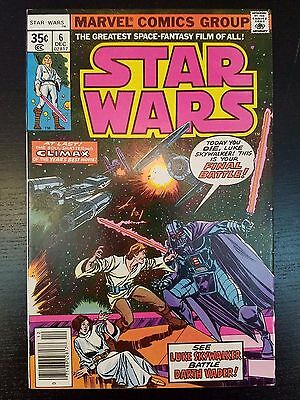 Star Wars #6 (1977, Marvel) 1st Print - First Series - Darth Vader - No Reserve