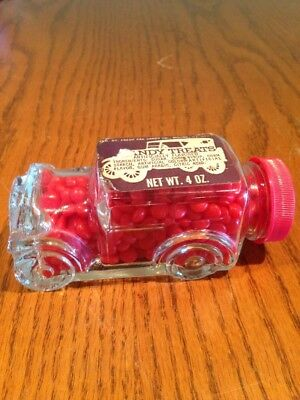 Vintage Glass Candy Container Car