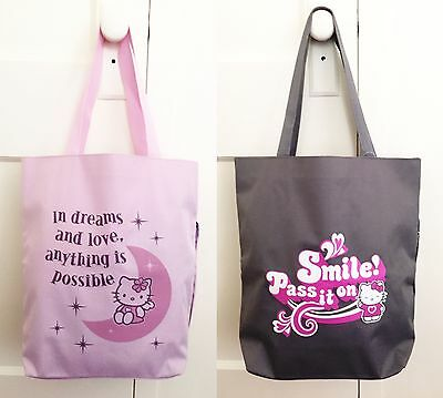 Set of 2 Hello Kitty School Bag / Shopping Tote Bag - Super Rare!