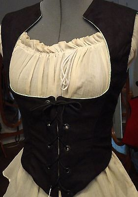 Collar Bodice Black Ultra Suede Front Closing Choice
