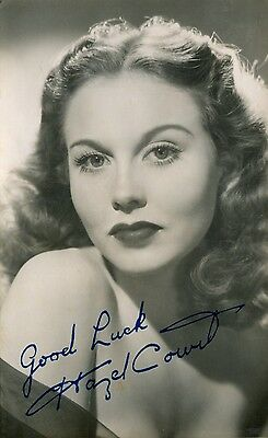 Hazel Court signed photo - Beautiful horror movie Actress