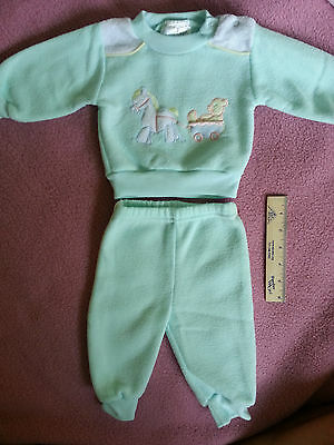 Vintage Little Boy's Matching Top/pants, 0-6 Months - Pony On Front, Very Soft!