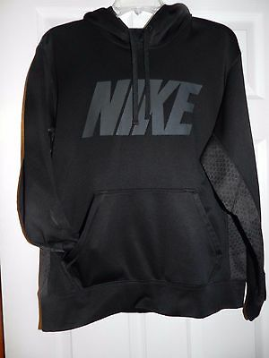 Nike Therma Fit Men's Hoodie Size Medium Black And Gray