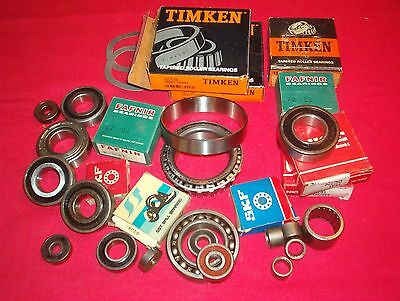 Large Lot Of Roller Bearings New And Used(Good) Timken Nice Skf Etc. Project ?