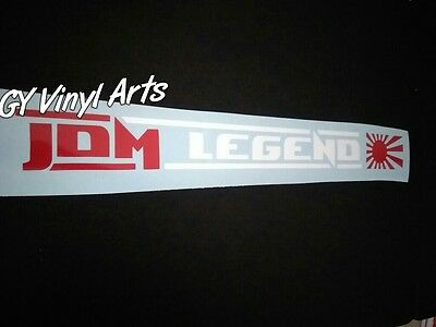JDM LEGEND Windshield Decals Cars Stickers Banners Honda Civic Integra