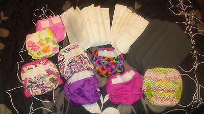 Mixed Lot of Cloth Diapers -Rumparooz, WAHM-made, Inserts, Doublers.