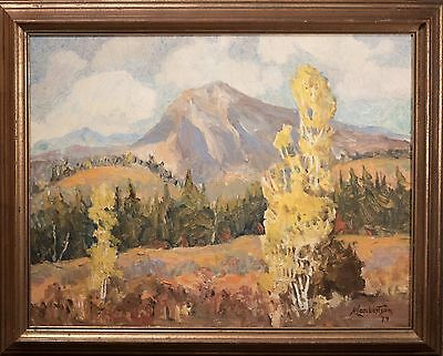 """""""Ned Lambertson"""" Western Landscape Impressionist Oil Painting Signed! BEAUTIFUL!"""