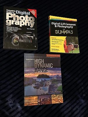 Lot of 3 Photography Books - Complete Guide to Digital, SLR Cameras, and HDR