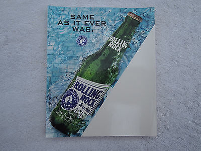 Rolling Rock Price Card~Bar Sign~Vintage~Collectible New Old Stock