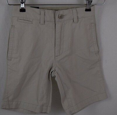 NWT Gap Kids Boys Nanotex Gap Shield School Uniform Lt. Beige Shorts~Size 6