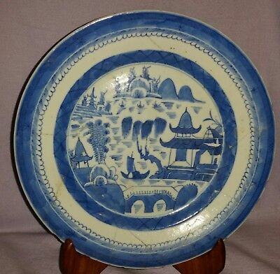 Ca 1750 Antique Chinese Canton Plate