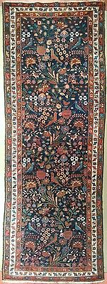 "Antique Persian Garden runner rug, 3'4"" x 9'6"""
