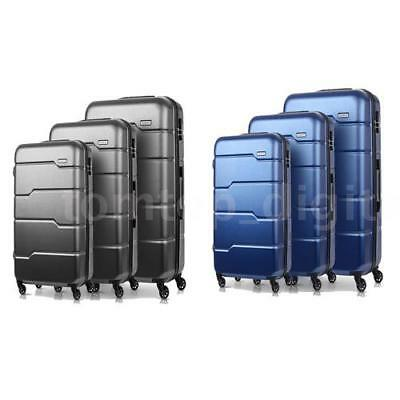 3Pcs Luggage Travel Set Bag ABS+PC Trolley Spinner Suitcase W/TSA Lock Top T7M9