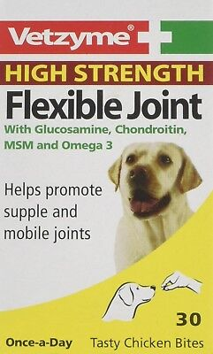 Dog Supplement Flexible Joint High Strength Tablets Vetzyme Pain Free 30 Tablets