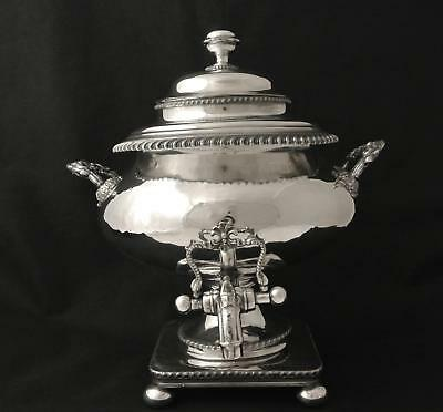 Victorian Sheffield Plate Fused Rolled Plate Samovar Hot Water Pot Coffee Urn